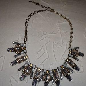 J Crew Necklace pink grey silver